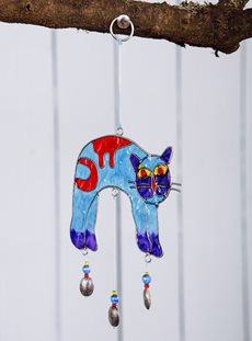 Arching Cat Sun Catcher