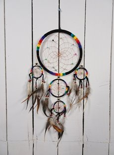 Black And Rainbow Dreamcatcher