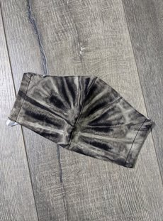 Black And White Tie Dye Facemask