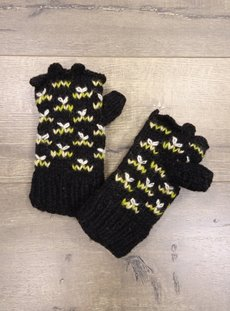 Black Patterned Hand Warmers