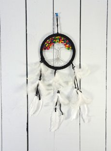 Black Suede Tree Of Life Dreamcatcher