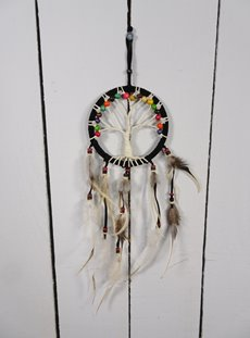 Black Tree Of Life Dreamcatcher