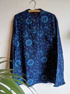 Blue Celestial Printed Shirt