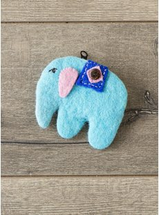 Blue Elephant Purse