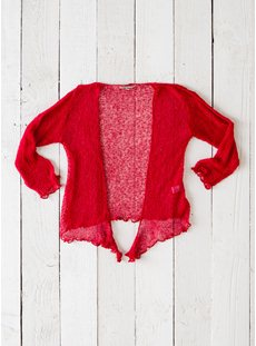 Bright Red Shrug