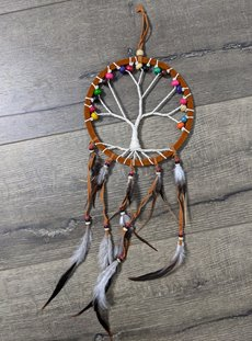 Brown Tree Of Life Suede Dreamcatcher