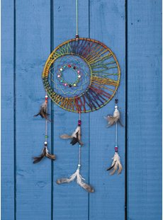 Circle Hemp Rainbow Dreamcatcher