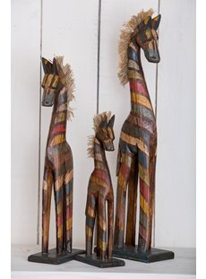 Dark Multi Stripe Set Of Three Horses