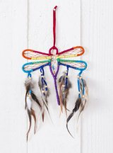 Dragonfly Suede Dreamcatcher