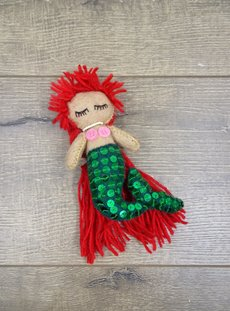 Felt & Sequin Hanging Mermaid