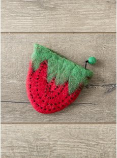 Felt Strawberry Purse