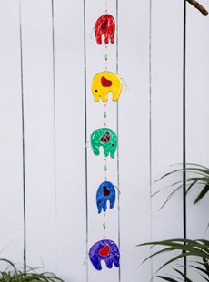 Five Elephants Sun Catcher