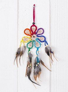 Flower Suede Dreamcatcher