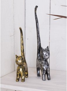 Gold and Silver Cats