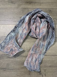 Grey Silk And Wool Scarf