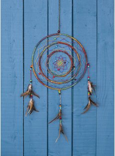 Hemp Large Rainbow Dreamcatcher