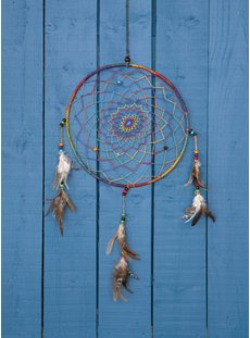 Hemp Rainbow Dreamcatcher Large