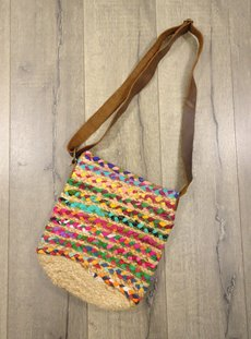 Jute And Recycled Cotton Shoulder Bag