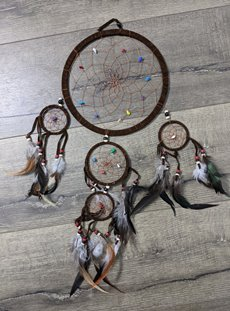 Large Chocolate Suede Dreamcatcher