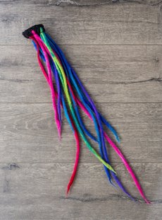 Long Rainbow Felt Hairbobble