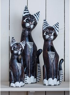 Medium Dark Striped Cat Set