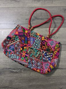 Multi Coloured Embroidered Bag