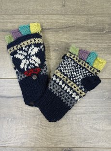 Navy Woolen Gloves