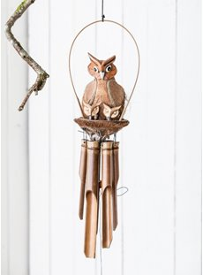 Owl And Baby Windchime