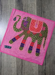 Pink Overdyed Elephant Cushion