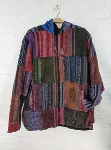 Purple Multi Patchwork Jacket