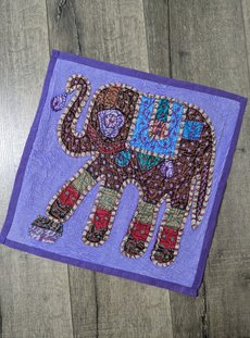 Purple Overdyed Elephant Cushion