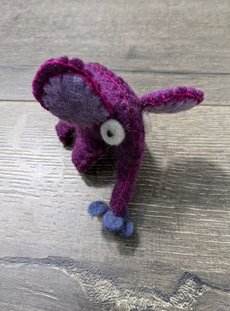 Purple Single Felt Elephant