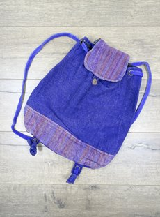 Purple Stonewashed Rucksack