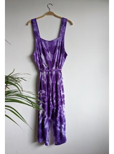Purple Tie Dye Jumpsuit