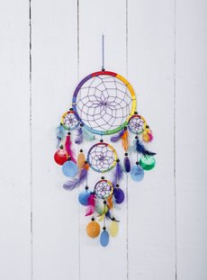 Rainbow Shell Dreamcatcher