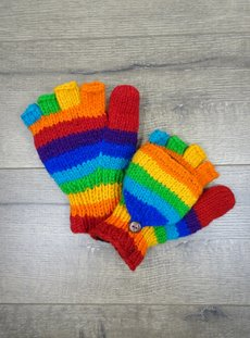 Rainbow Woolen Hunter Gloves