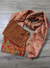 Rust Recycled Sari Scarf