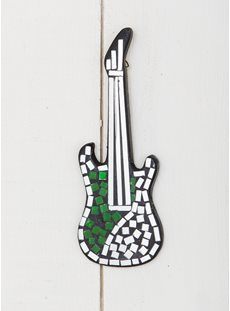 Small Green Guitar Wall Decoration