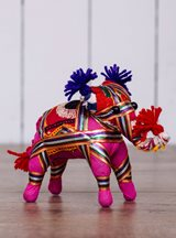 Small Pink Fabric Elephant