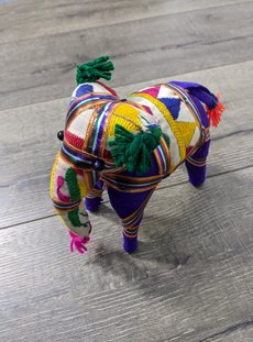 Small Purple Fabric Elephant