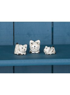 Small White Cat Set