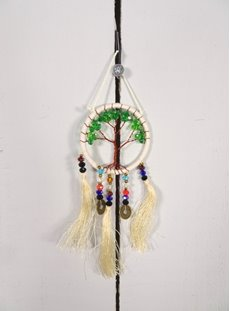 Small White Tree Of Life Dreamcatcher