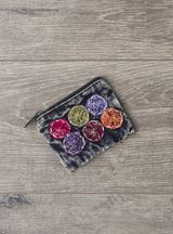Stonewashed Applique Coin Purse