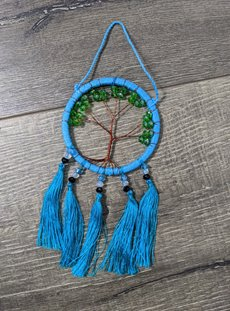 Turquoise Small Tree Of Life Dreamcatcher