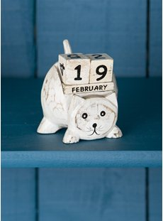 White Washed Cute Cat Calendar