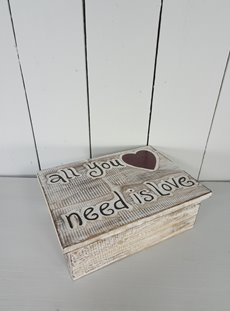 Wooden All You Need is Love Box